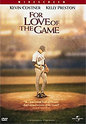 """For The Love Of The Game"" movie clips poster"