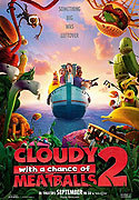"""Cloudy With A Chance Of Meatballs 2"" movie clips poster"