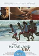 """McFarland USA"" movie clips poster"